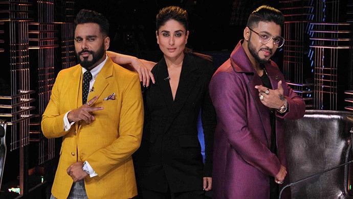 Kareena Kapoor strikes a pose with Bosco Martis and Raftaar