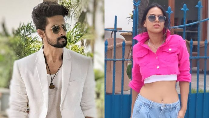 Ravi Dubey and Nia Sharma on Jamai Raja 2.0 sets