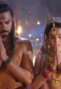 Still from Aghori with Adhvik and Kamakshi getting Married