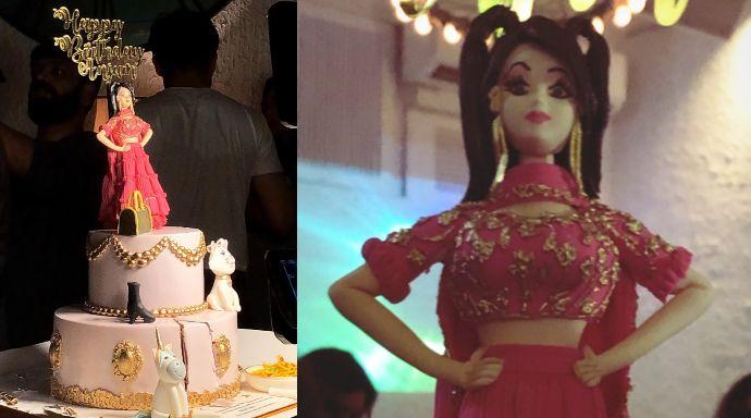 Anjum Fakih's birthday cake