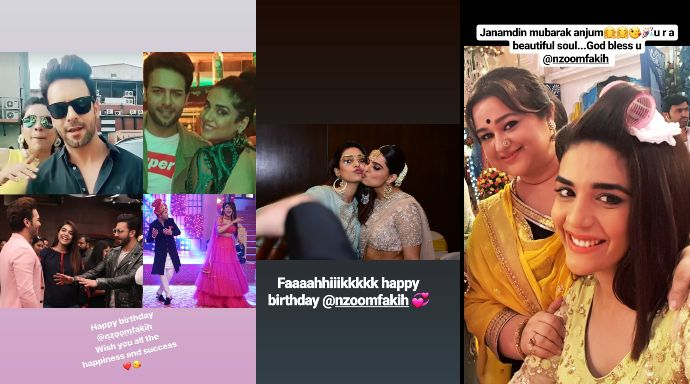 Birthday wishes for actress Anjum Fakih