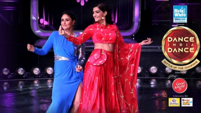 Kareena, Sonam on DID sets