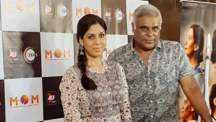 Sakshi Tanwar with Ashish Vidyarthi at the MOM screening