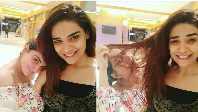 Shraddha Arya and Anjum Fakih's no makeup selfie
