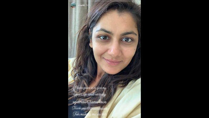 Sriti Jha shares no makeup selfie