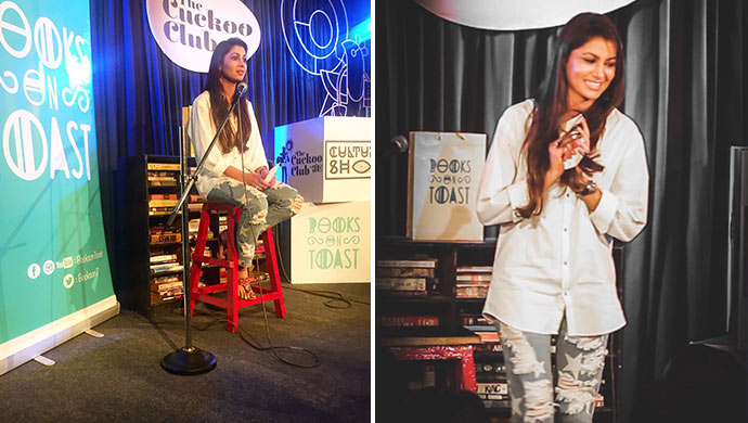 Sriti Jha's first open mic performance