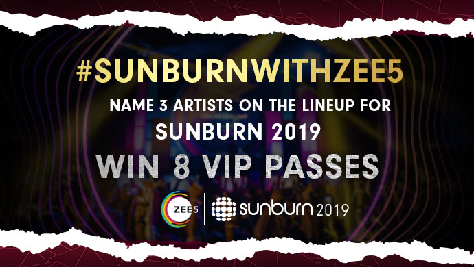 Sunburn With ZEE5 Contest