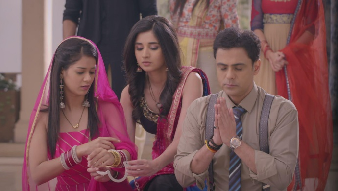 Still from Guddan Tumse Na Ho Payega with Vikrant and Alisha
