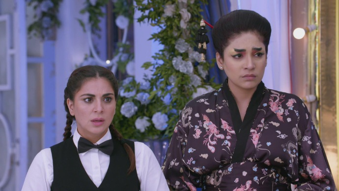 Still from Kundali Bhagya with Preeta and Srishti
