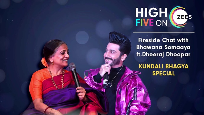 Dheeraj Dhoopar and Bhawana Somaaya at High Five On ZEE5