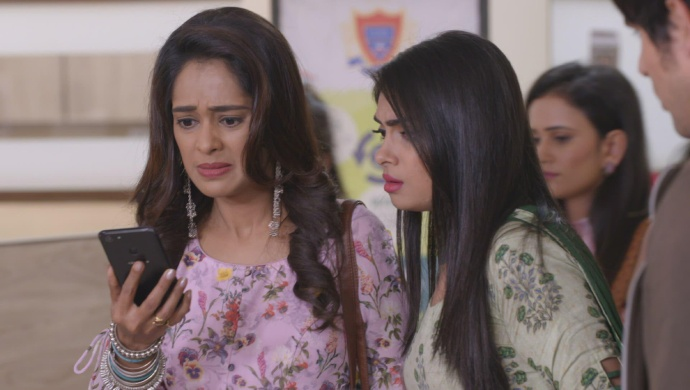 Still from Kumkum Bhagya with Prachi and Shahana