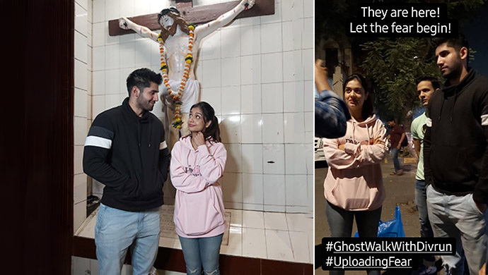 Varun Sood and Divya Agarwal Take A Ghost Walk