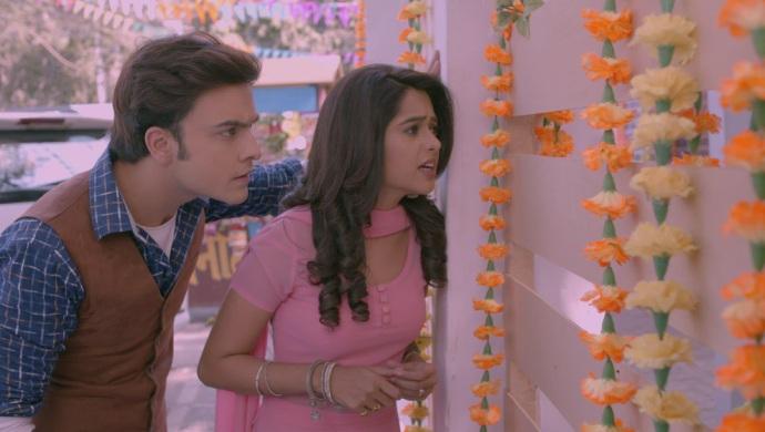 Still from Kumkum Bhagya with Prachi at Maya's engagement