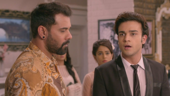 Still from Kumkum Bhagya with Ranbir and Abhi