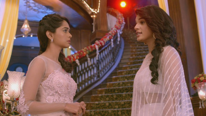 Still from Kumkum Bhagya with Rhea and Prachi