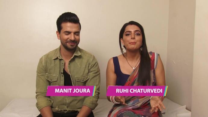 Ruhi Chaturvedi and Manit Joura from Kundali Bhagya