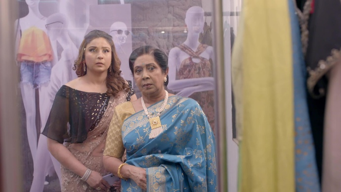 Still from Kumkum Bhagya with Pallavi and Daadi