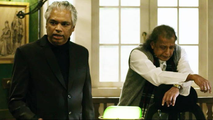 Prakash Belawadi with Mithun Chakraborty in Tashkent Files
