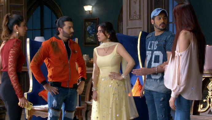 Still from Kundali Bhagya with Karan and Preeta on ZEE5