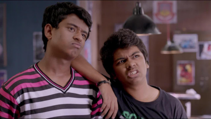 Pratik Lad and Parth Bhalerao in a still from Boyz.
