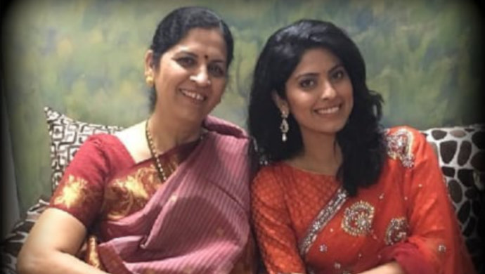 Abhindya Bhave from Tula Pahate Re poses with mom.