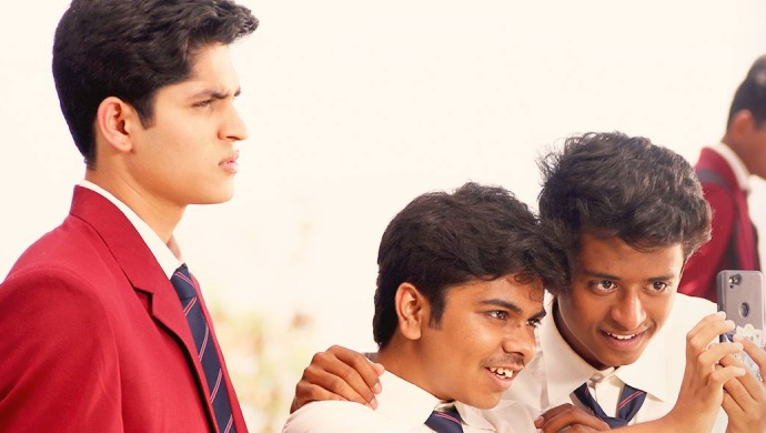 Parth Bhalerao, Pratik Lad and Sumant Shinde from the film Boyz.