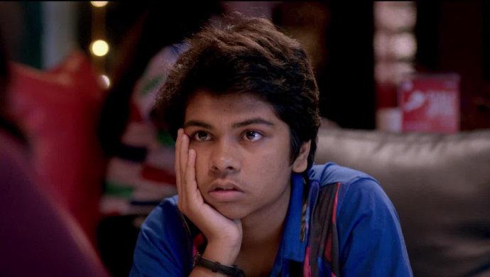 Parth Bhalerao in still from film Boyz.