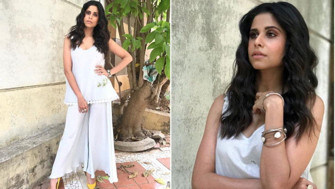 Sai Tamhankar wears white-on-white trend.