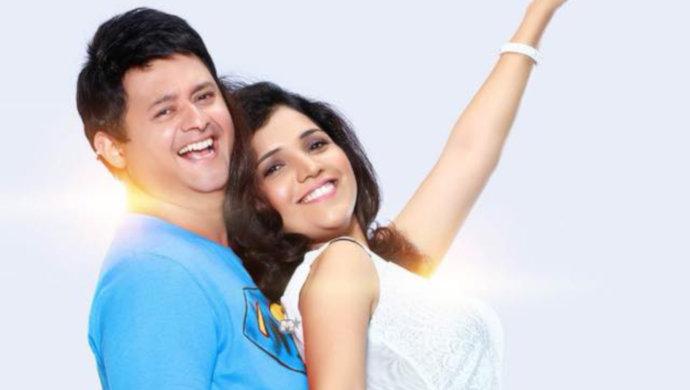 Mukta barve and Swapnil Joshi from the film Mumbai Pune Mumbai.