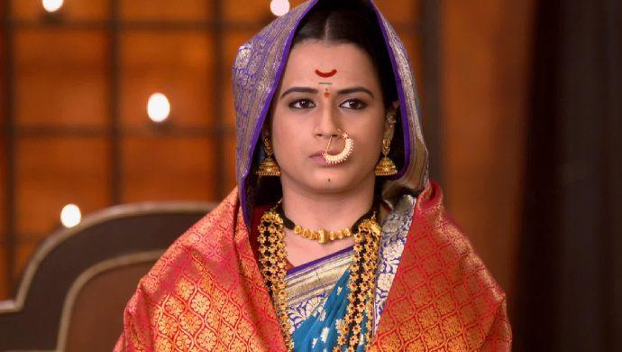 Prajakta Gaiwad in a scene from Swarajyarakshak Sambhaji