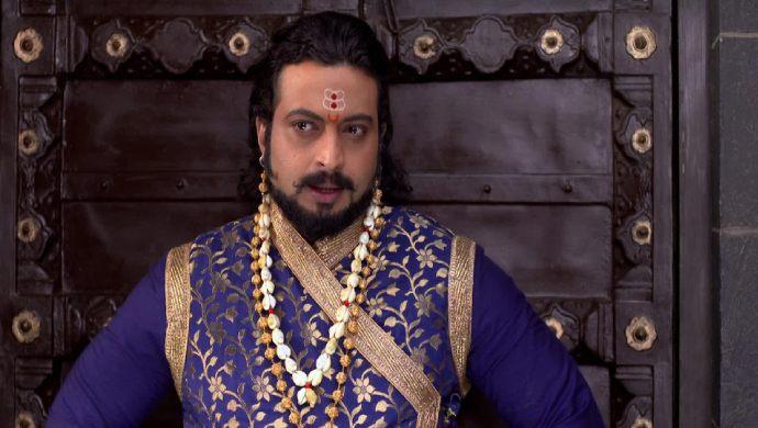 Swarajyarakshak Sambhaji actor Amol Kolhe in a scene from the show.