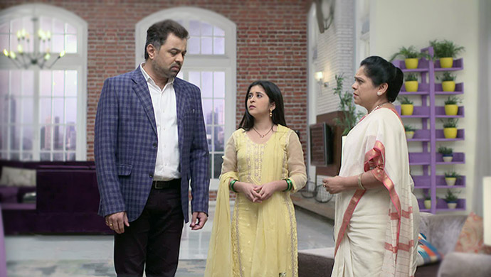 Isha, Vikrant and Aaisaheb in a still from Tula Pahate Re