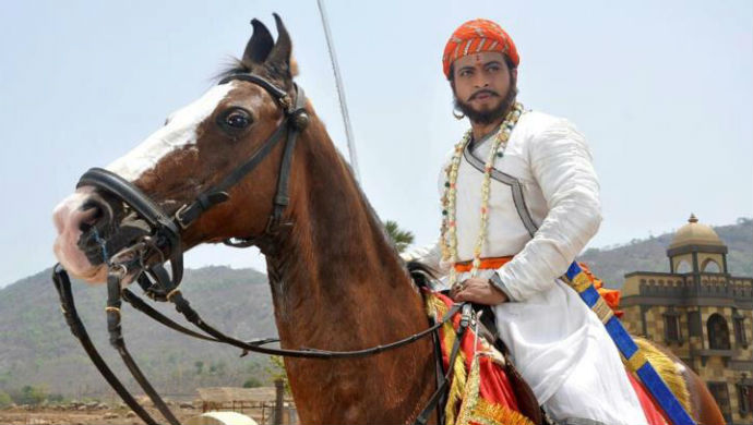 A Still From Swarajyarakshak Sambhaji Starring Amol Kolhe As Sambhaji