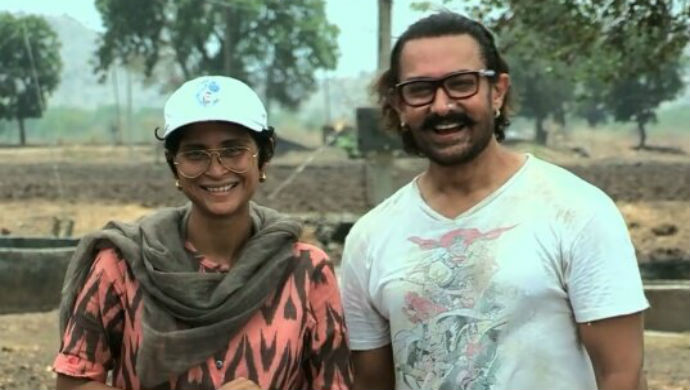 Aamir Khan And Kiran Rao From Toofan Aalaya
