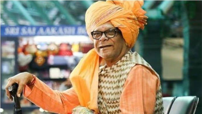 A Still From Pushpak Vimaan Featuring Mohan Joshi