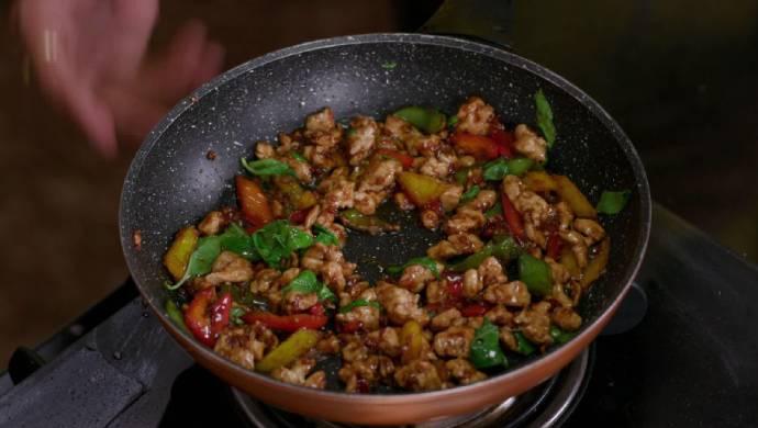 Oriental Basil Chicken from Aamhi Saare Khavayye.