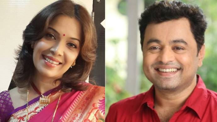 Shilpa Tulaskar and Subodh Bhave from Tula Pahate Re.