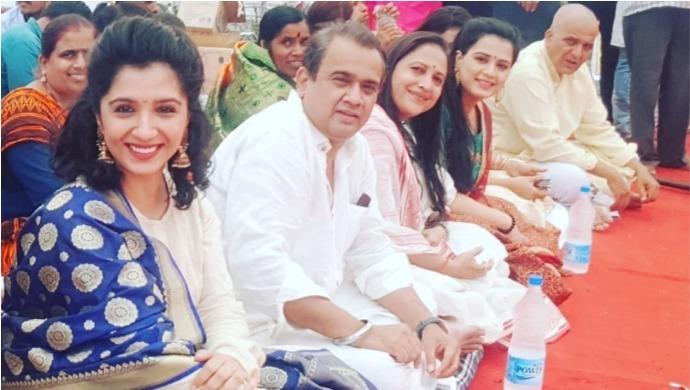 Snehlata Vasaikar And Prajakta Gaikwad At Sambhaji's Smaran Divas