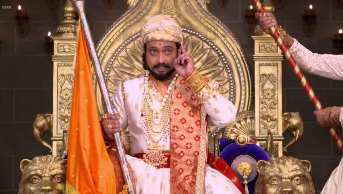 Sambhaji in a scene from Swarajyarakshak Sambhaji.