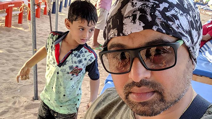 A Still Of Subodh Bhave With His Son