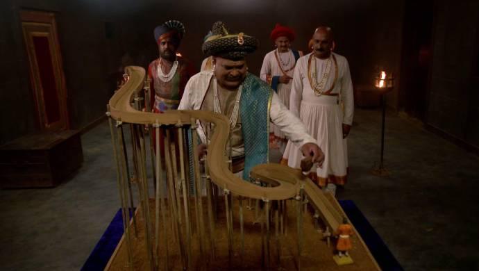 scene from Swarajyarkshak Sambhaji