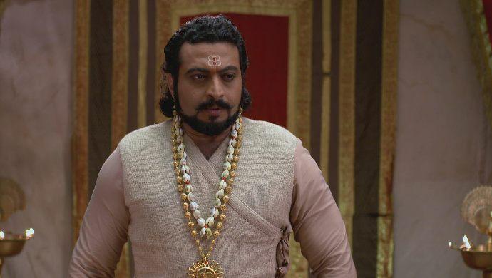 A still from Swarajyrakshak Sambhaji