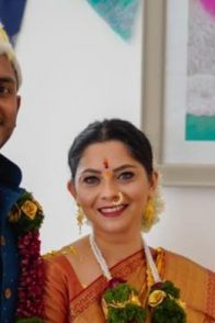 Sonalee Kulkarni and her fiance Kunal Benodekar