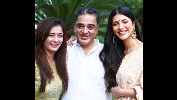 Akshara Haasan, Kamal Haasan, Shruti Haasan