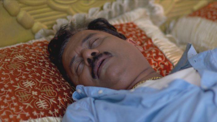 Krishnan lies uncouncious