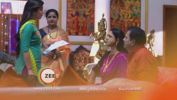 Nandana throws a letter