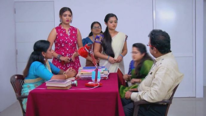 Menaka fights with the principal