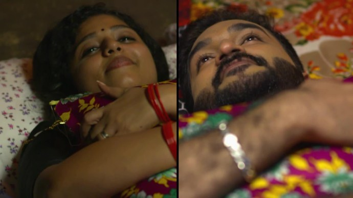 Anand and Kalyani exchange air pillows (source:ZEE5)