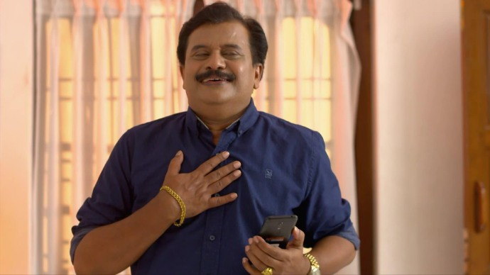 Krishnan gets elated to hear about Kalyani's recovery (Source:ZEE5)