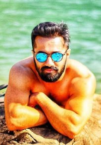 Vishal Karwal Posing on the beach